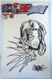 The Cow Spring 2000 Jay Company Witchblade Sketch Edtion Original Art Lansang COA